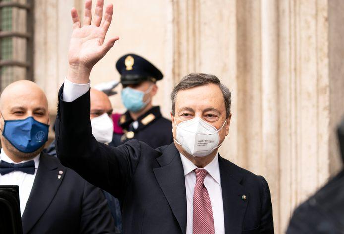 De Italiaanse premier Mario Draghi.