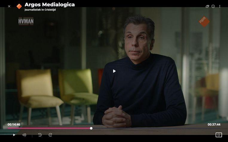 Christophe Deborsu in Medialogica. Beeld