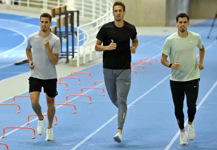 Kevin Borlée, Dylan Borlée et Jonathan Borlée.