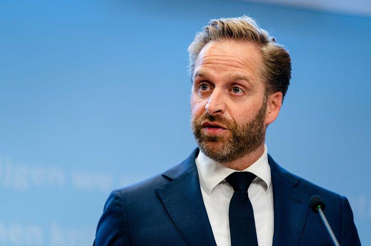 Demissionair minister Hugo de Jonge van Volksgezondheid, Welzijn en Sport (CDA):