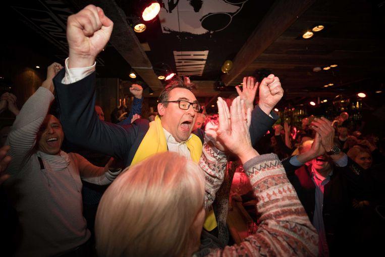 Groep de Mos, de lokale partij rond deze Richard de Mos, was de grote winnaar in Den Haag. Beeld ANP