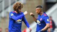 Eerste competitiegoal Fellaini en slipper Valdés bezorgen ManU drie belangrijke punten