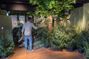 Horecazaak Mr. Barley fungeert nu als opslag en verkooppunt van kerstbomen.