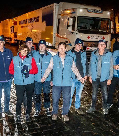 Vijf vrachtwagens met hulpgoederen onderweg van Sint-Oedenrode naar Oekraïne