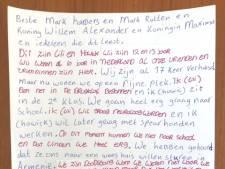 Dit is de brief van Lili en Howick aan Harbers en Rutte, de koning en koningin