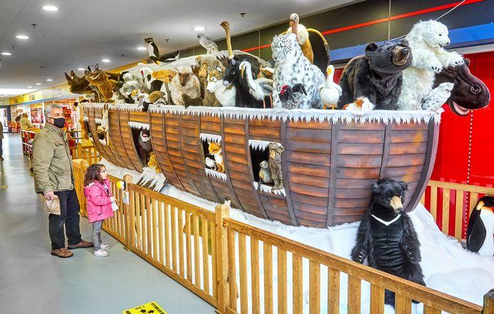 De Ark van Noach in winkelcentrum de Ruwert is vooral bij kinderen in trek.