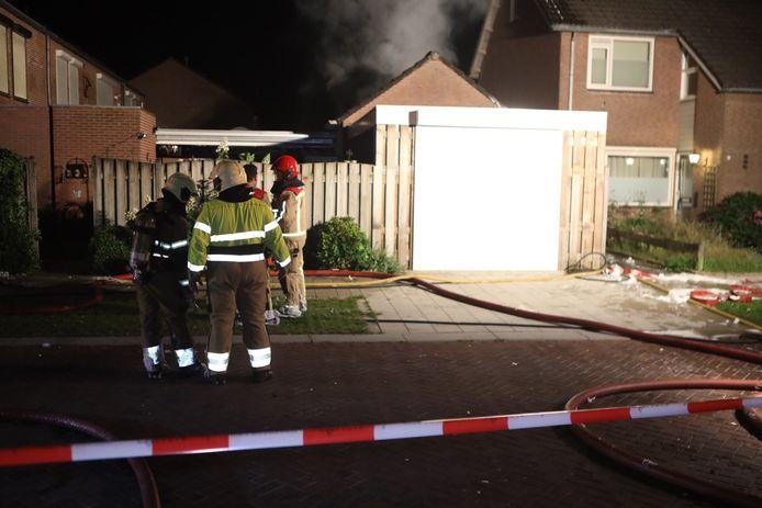 Brandweerlieden ter plaatse in Sint-Oedenrode.