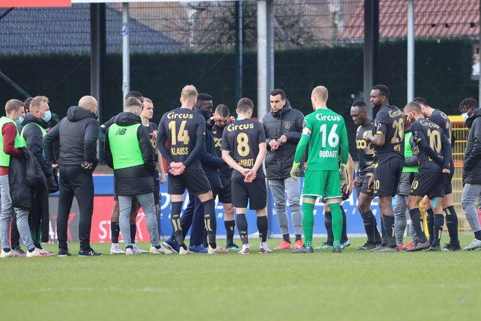 Mbaye Leye avaut demandé à ses joueurs d'enchaîner après Bruges, ils n'ont pas été capables de le faire. Un autre match à oublier pour les Rouches.