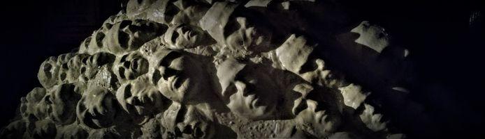 Detail van hoe de schubben in ontwerp 1 vormgegeven moeten worden; per schub één 3D-gezicht.