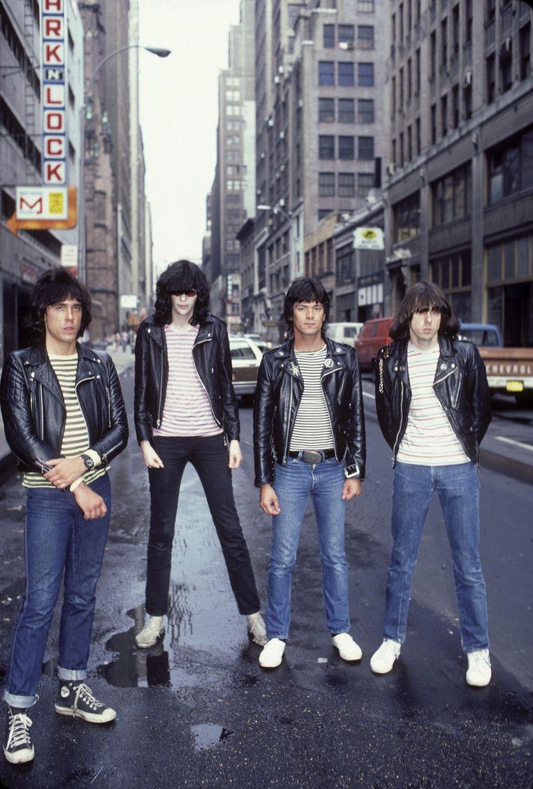De Ramones in New York City, in juni 1981. Van links af: Marky Ramone, Joey Ramone, Dee Dee Ramone en Johnny Ramone. Beeld Ebet Roberts / Getty