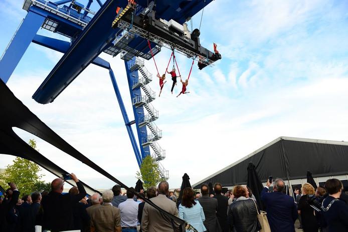 Opening portaalkraan Van Berkel