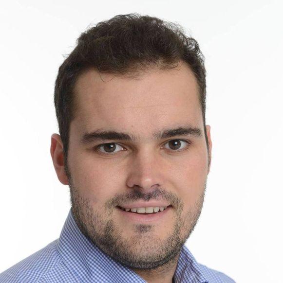 Raadslid Maxim Laporte (Open Vld).