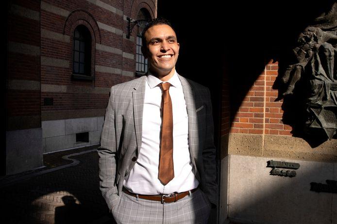 Faouzi Achbar, de nieuwe fractievoorzitter van Denk in Rotterdam: 'Aboutaleb beseft niet altijd wat er leeft in de stad'.