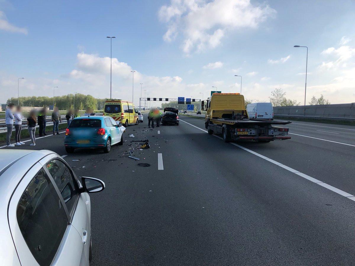 Het ongeval op de A50.