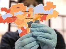 CORONAKAART | Niemand in de regio overleden aan corona, Nijmegen heeft opnieuw hoogste aantal besmettingen