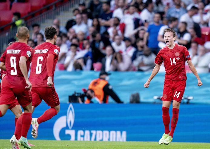 Mikkel Damsgaard scoorde knap de 0-1.