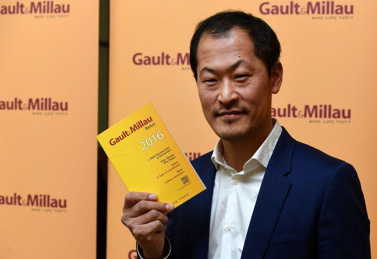Sang-Hoon Degeimbre van L'air du temps is de Chef van het Jaar volgens Gault&Millau. Beeld PHOTO_NEWS