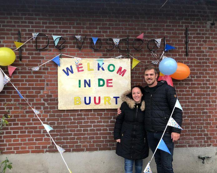 Maarten en Michelle vorig jaar januari toen ze gingen samenwonen.