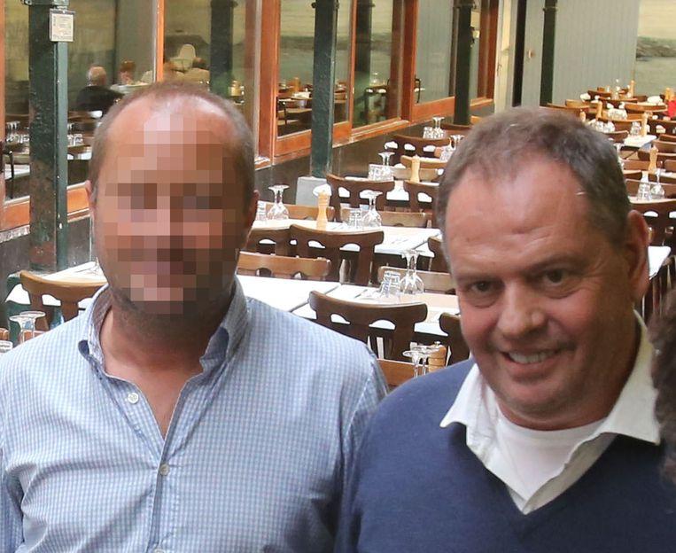Tom M. en Piet Devriendt in betere tijden. Ze waren jarenlang vrienden terwijl de kelner hem bestal