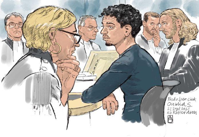 Oualid S. in de Rotterdamse rechtbank.