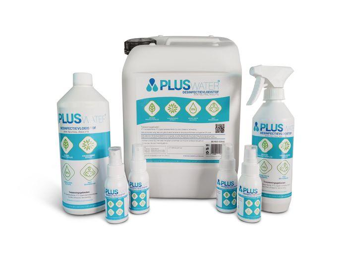 Het assortiment van PLUSwater.