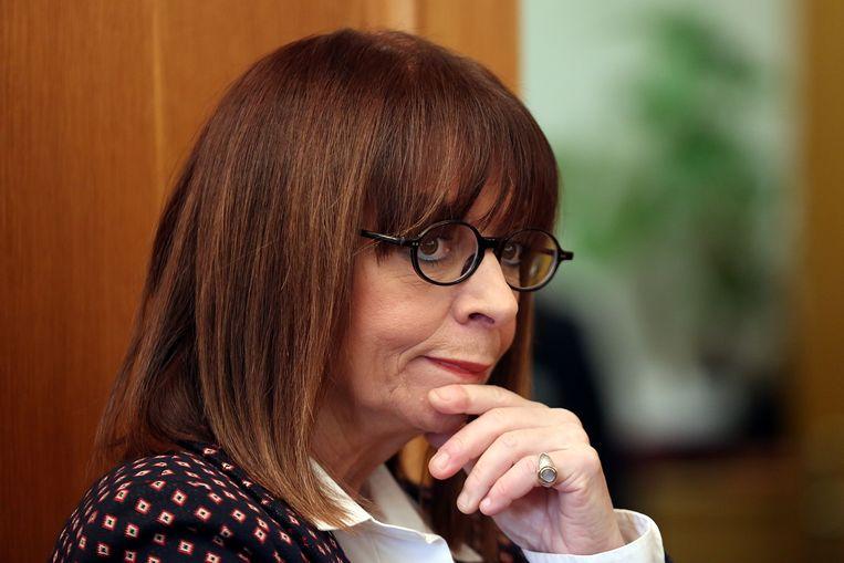 Katerina Sakellaropoulo wordt in maart beëdigd als president van Griekenland. Beeld Reuters