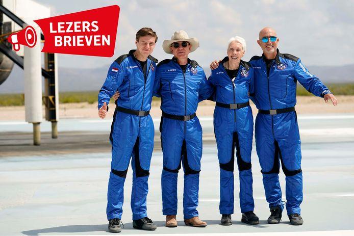 Oliver Daemen kon mee met de commerciële ruimtevlucht van Jeff Bezos.