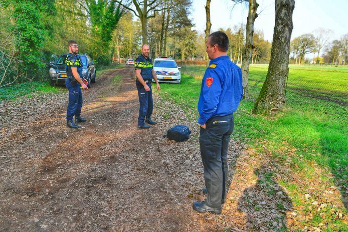 Het vat werd aangetroffen door de politie.
