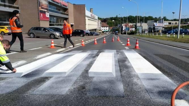 Zwevende 3D-zebrapaden moeten voetgangers veiliger laten oversteken