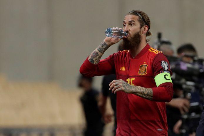 Sergio Ramos mocht gisteravond in de 86ste minuut nog even invallen tegen Kosovo (3-1) in Sevilla.