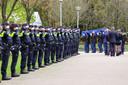 Afscheid met volledige korpseer van politieman Jeroen Leuwerink (28).