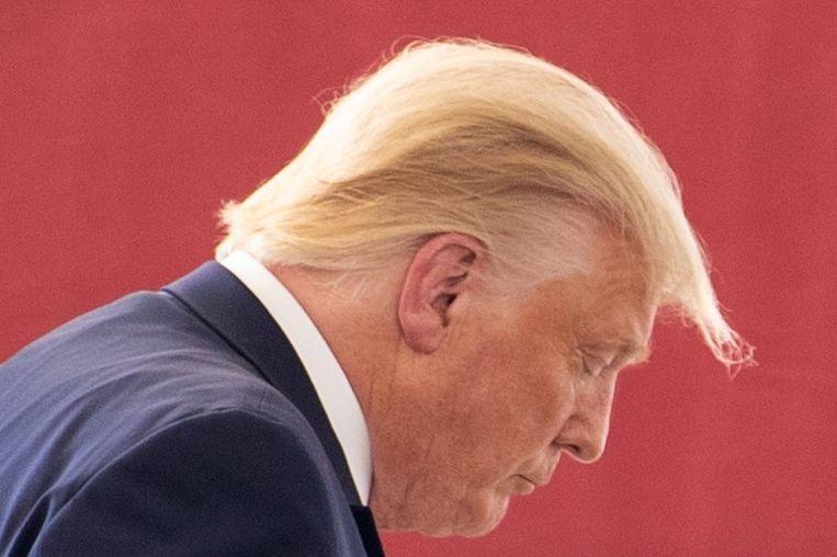 Donald Trump suggereert dat buitenlandse partijen de verkiezingen kunnen beïnvloeden als er per post wordt gestemd. Beeld AFP