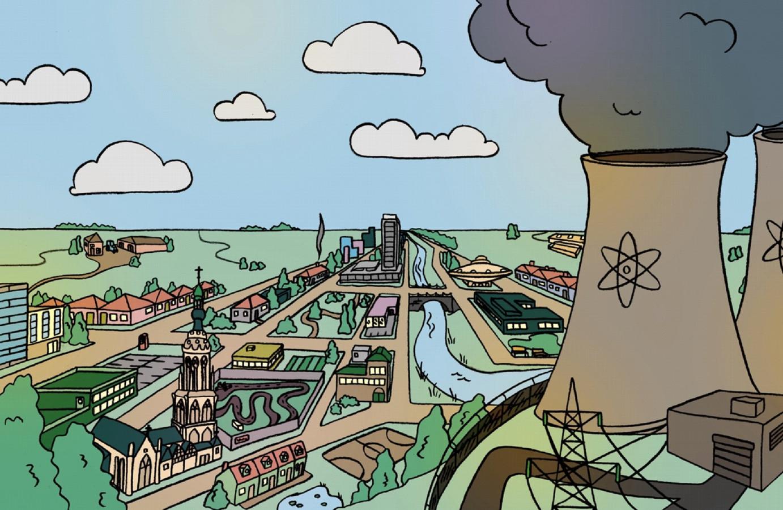 De provincie Noord-Brabant zet in op kernenergie.