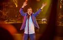 De zanger was duidelijk in zijn nopjes op het podium.