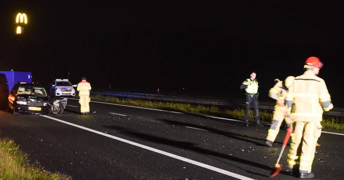 A18 bij Doetinchem afgesloten na ongeluk.