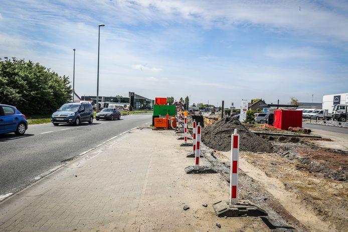 De werken in de Noordlaan in Torhout naderen een volgende fase.