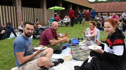 Heerlijk picknicken op de kolonie