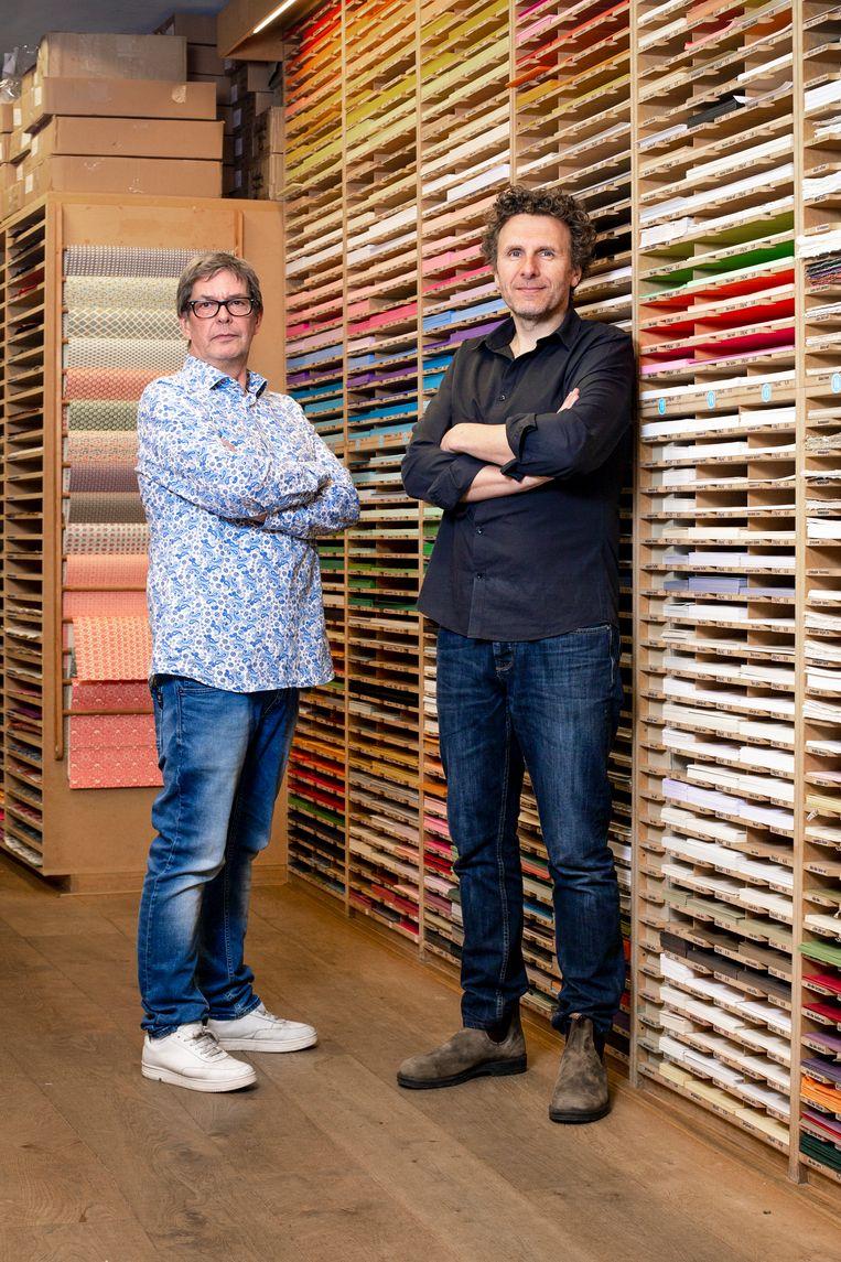 Rob Willemsen (links) en Mick Lemminga, bedrijfsleiders van Vlieger.  Beeld Susanne Stange