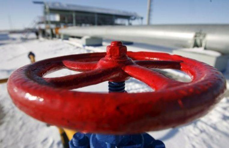 Een gaskraan van het Russische gasbedrijf Gazprom. ANP Beeld
