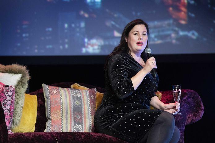 Annabel Nanninga spreekt tijdens het vierde partijcongres van Forum voor Democratie in november 2019.