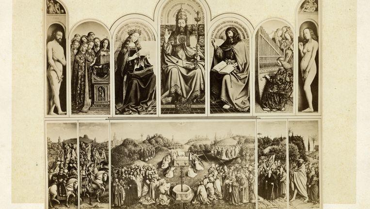 De Rechtvaardige Rechters op een afbeelding uit het Gentse stadsarchief. Beeld BELGA