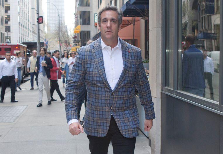 Michael Cohen, de voormalige advocaat van Trump, in New York. Beeld Photo News