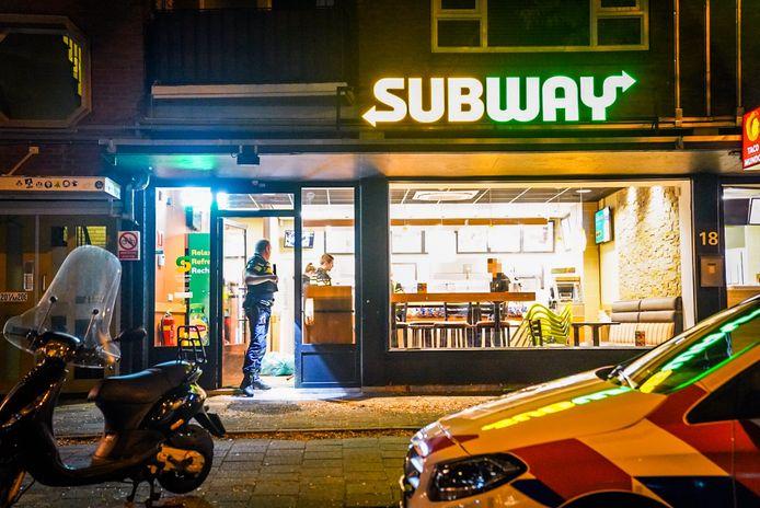 Overval op Subway Eindhoven.