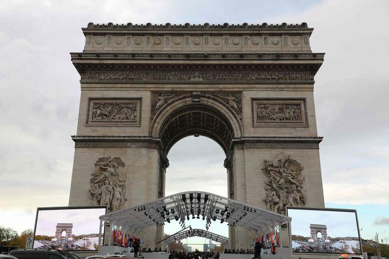De Arc de Triomphe in Parijs. Beeld AFP