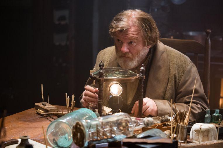 Domhnall Gleeson wordt bloednerveus als hij op de set staat met zijn vader, Brendan Gleeson (hier in 'In the Heart of the Sea'). Beeld rv