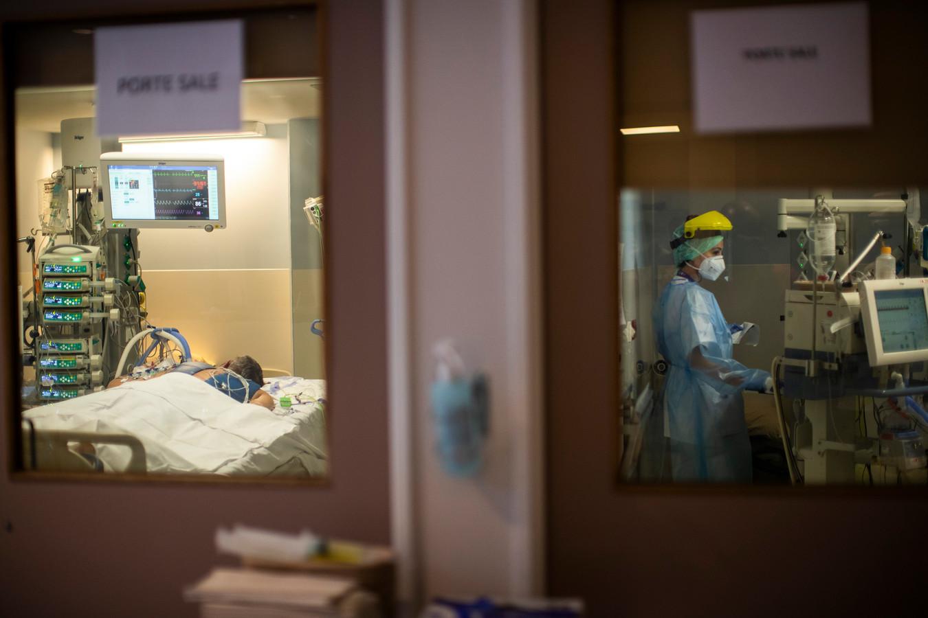 Unité de soins intensifs de l'hôpital Érasme, à Bruxelles (archives)