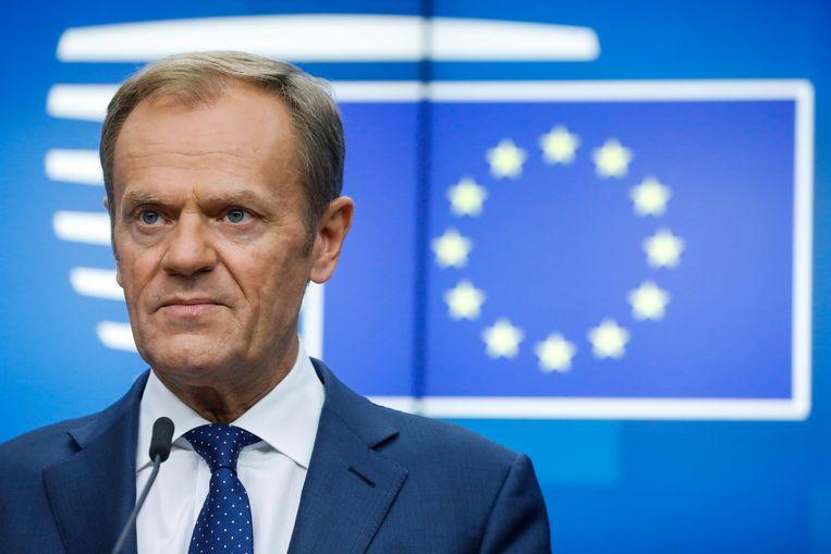 Europees president Donald Tusk.  Beeld BELGA