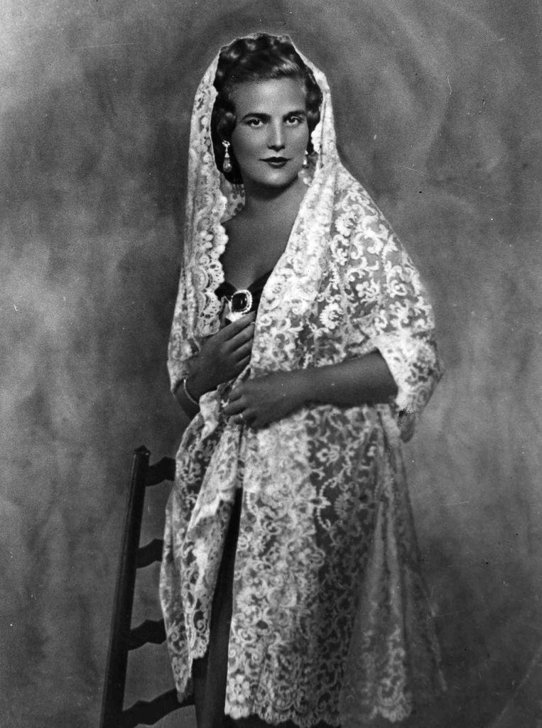 Portret van Lilian Baels, de tweede echtgenote van Leopold III. Beeld BELGA