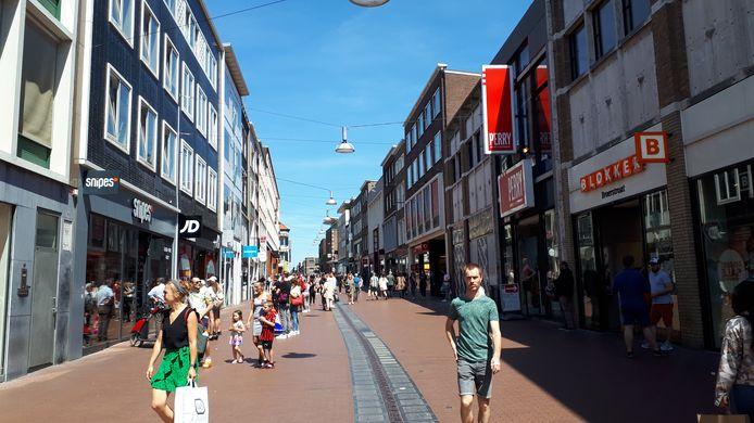 De Broerstraat in Nijmegen op Hemelvaartsdag.