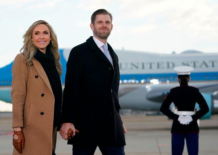 Lara Trump met haar echtgenoot Eric Trump (zoon van Donald Trump)